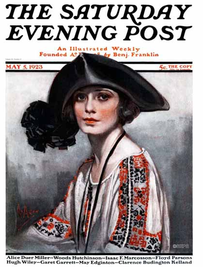 Neysa McMein Cover Artist Saturday Evening Post 1923_05_05 | The Saturday Evening Post Graphic Art Covers 1892-1930