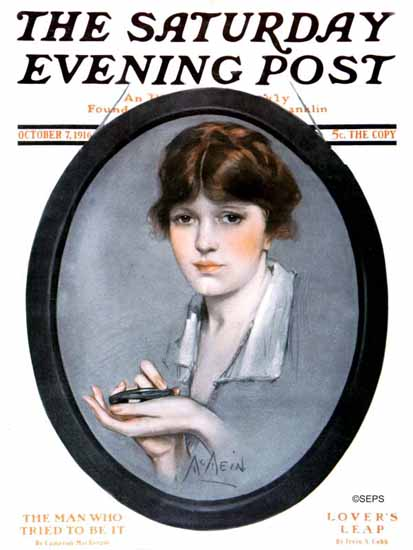 Neysa McMein Saturday Evening Post 1916_10_07   The Saturday Evening Post Graphic Art Covers 1892-1930