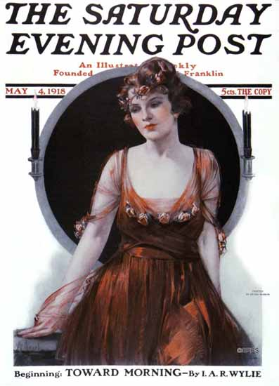 Neysa McMein Saturday Evening Post 1918_05_04 | The Saturday Evening Post Graphic Art Covers 1892-1930