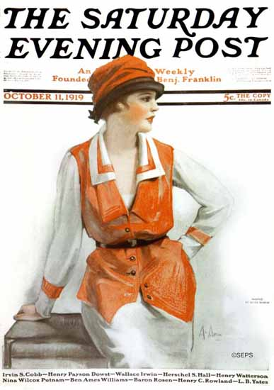 Neysa McMein Saturday Evening Post 1919_10_11 | The Saturday Evening Post Graphic Art Covers 1892-1930