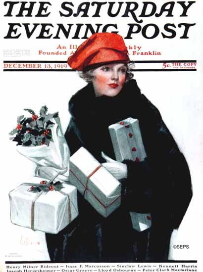 Neysa McMein Saturday Evening Post 1919_12_13 | The Saturday Evening Post Graphic Art Covers 1892-1930