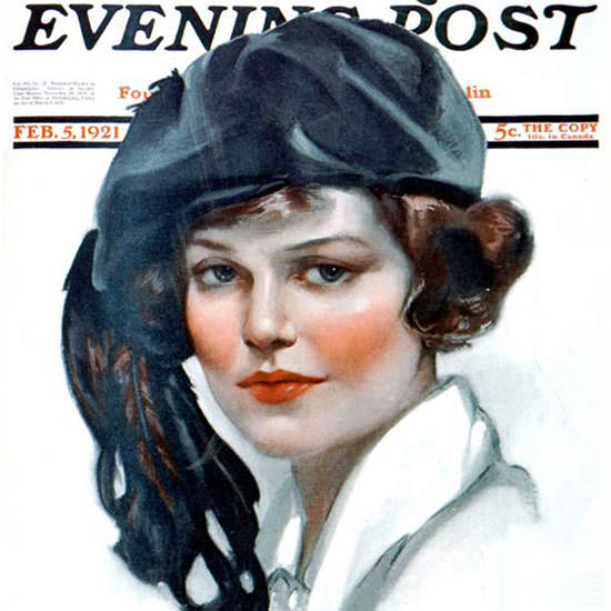 Neysa McMein Saturday Evening Post 1921_02_05 Copyright crop | Best of Vintage Cover Art 1900-1970