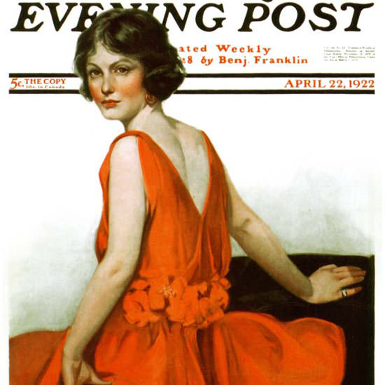 Neysa McMein Saturday Evening Post 1922_04_22 Copyright crop | Best of 1920s Ad and Cover Art