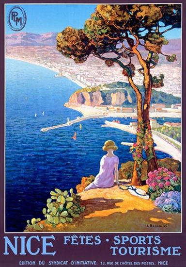 Nice France Fetes Sports Tourisme L Bonamici | Vintage Travel Posters 1891-1970