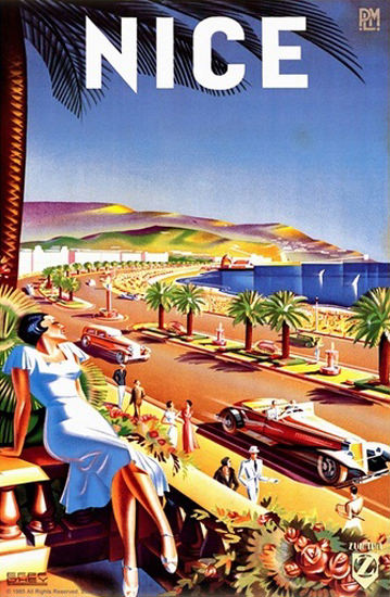 Nice France Seafront Boardwalk | Sex Appeal Vintage Ads and Covers 1891-1970