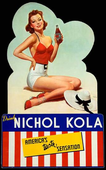 Nichol Kola Americas Taste Sensation Pin-Up 1940s | Sex Appeal Vintage Ads and Covers 1891-1970