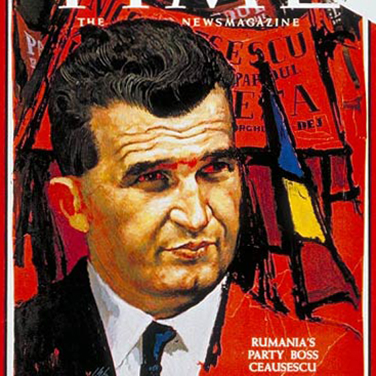 Nicolae Ceausescu Time Magazine 1966-03 crop | Best of Vintage Cover Art 1900-1970