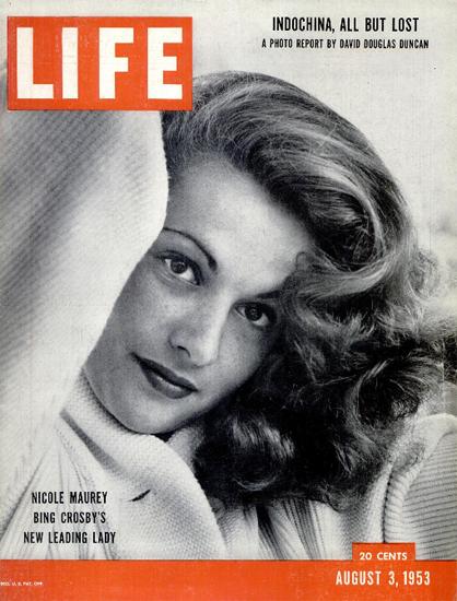 Nicole Maurey New Leading Lady 3 Aug 1953 Copyright Life Magazine | Life Magazine BW Photo Covers 1936-1970