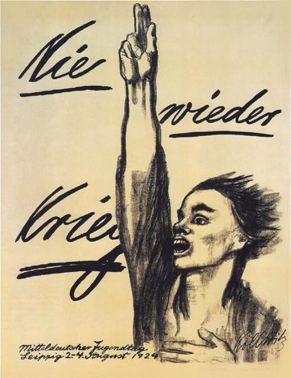 Nie Wieder Krieg 1924 Never War Again K Kollwitz | Vintage War Propaganda Posters 1891-1970