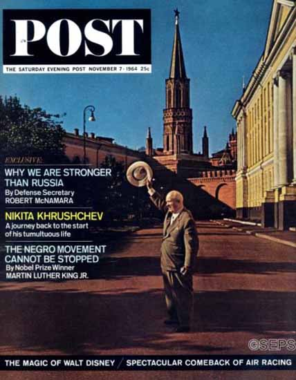 Nikita Khrushchev Saturday Evening Post 1964_11_07 | Vintage Ad and Cover Art 1891-1970