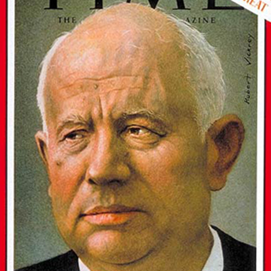 Nikita Khrushchev Time Magazine 1962-11 by Robert Vickrey crop | Best of Vintage Cover Art 1900-1970