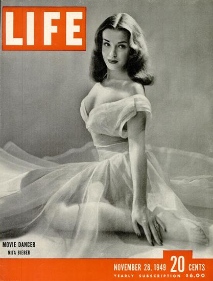 Nita Bieber Movie Dancer 28 Nov 1949 Copyright Life Magazine | Life Magazine BW Photo Covers 1936-1970