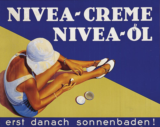 Nivea-Creme Girl Nivea-Oel 1930s Suntan Cream | Sex Appeal Vintage Ads and Covers 1891-1970
