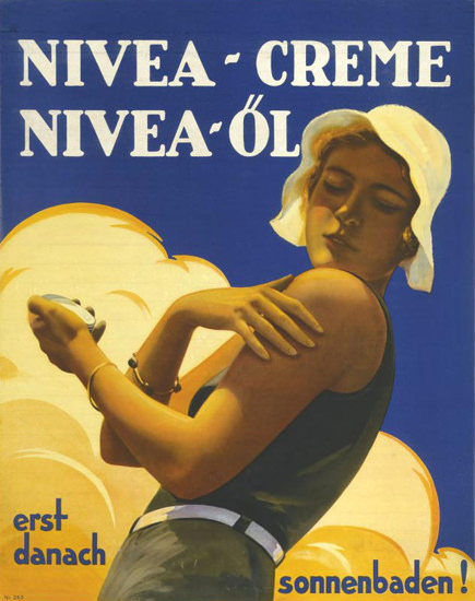 Nivea-Creme Nivea-Oel Suntan Cream 1931 | Sex Appeal Vintage Ads and Covers 1891-1970