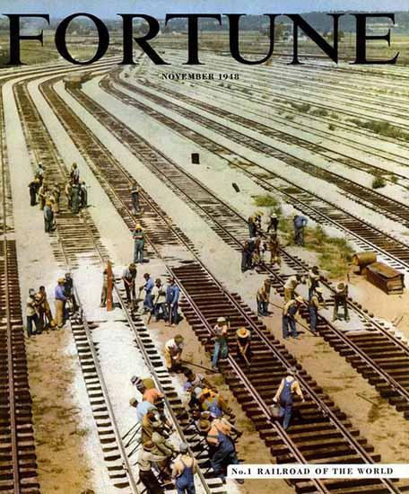 No 1 Railroad of the World Fortune Magazine November 1948 Copyright   Fortune Magazine Graphic Art Covers 1930-1959