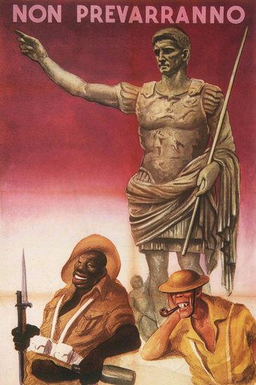 Non Prevarranno Italy Anti American Propaganda   Vintage War Propaganda Posters 1891-1970