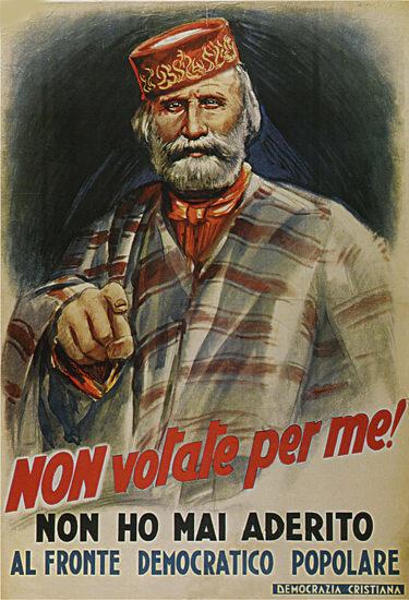 Non Votate Per Me Italy Italia   Vintage War Propaganda Posters 1891-1970