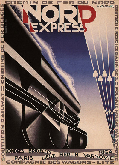 Nord Express Pullman France North Express   Vintage Travel Posters 1891-1970