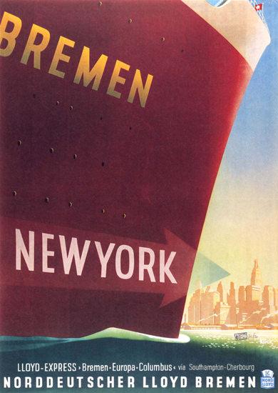 Norddeutscher Lloyd Bremen New York Express | Vintage Travel Posters 1891-1970