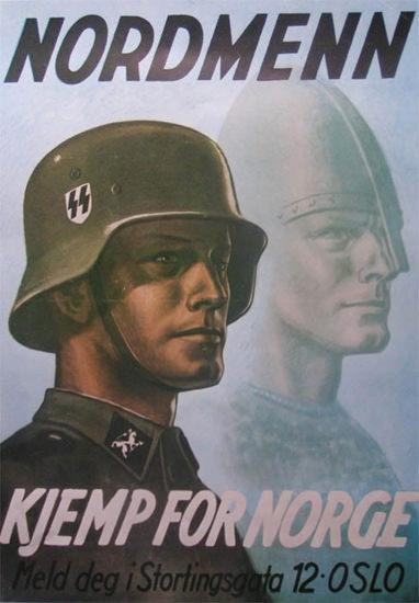 Nordmenn Kjemp For Norge | Vintage War Propaganda Posters 1891-1970