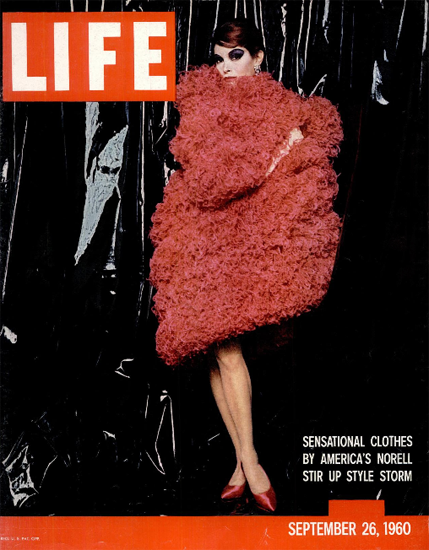 Norell Stir Up Style Storm Fashion 26 Sep 1960 Copyright Life Magazine | Life Magazine Color Photo Covers 1937-1970