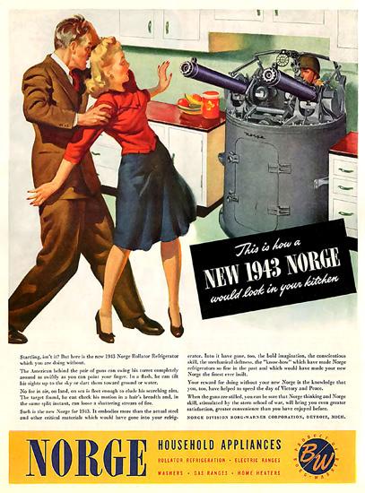 Norge 1943 Houshold Appliances | Vintage War Propaganda Posters 1891-1970