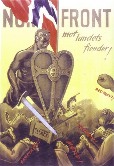 Norge Front Mot Landets Fiender | Vintage War Propaganda Posters 1891-1970