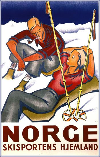 Norge Skisportens Hjemland 1936 Engebret | Sex Appeal Vintage Ads and Covers 1891-1970