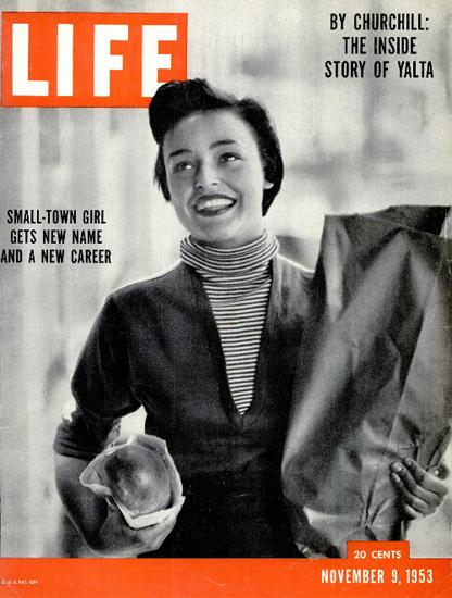 Norma Jean Speranza Corey 9 Nov 1953 Copyright Life Magazine | Life Magazine BW Photo Covers 1936-1970