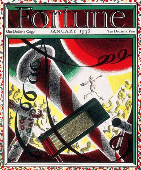 Norman Reeves Fortune Magazine January 1936 Copyright   Fortune Magazine Graphic Art Covers 1930-1959