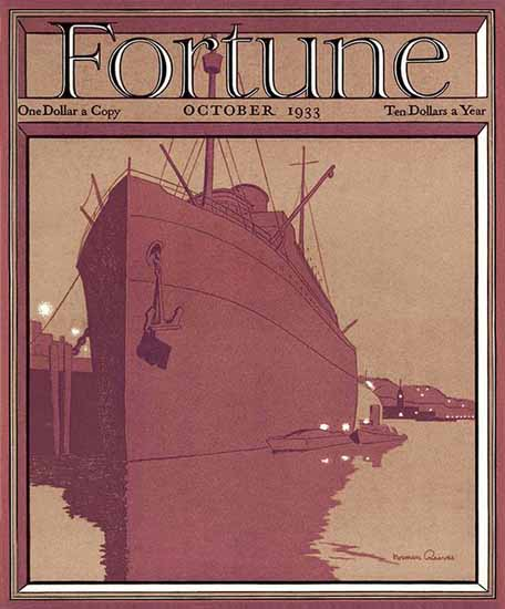 Norman Reeves Fortune Magazine October 1933 Copyright | Fortune Magazine Graphic Art Covers 1930-1959