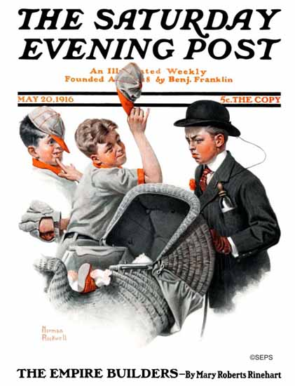 Norman Rockwell Artist Saturday Evening Post 1916_05_20 | 400 Norman Rockwell Magazine Covers 1913-1963