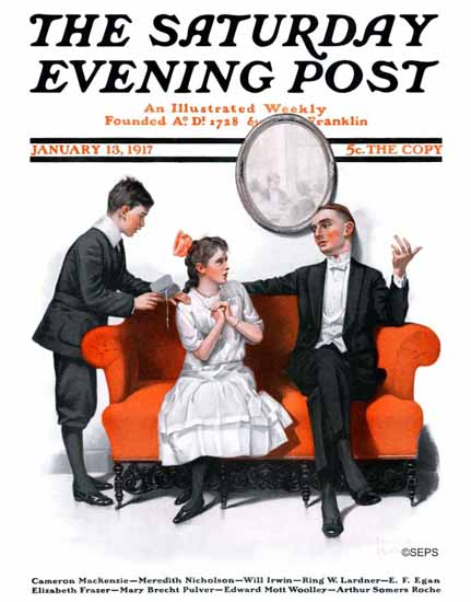 Norman Rockwell Artist Saturday Evening Post 1917_01_13   400 Norman Rockwell Magazine Covers 1913-1963