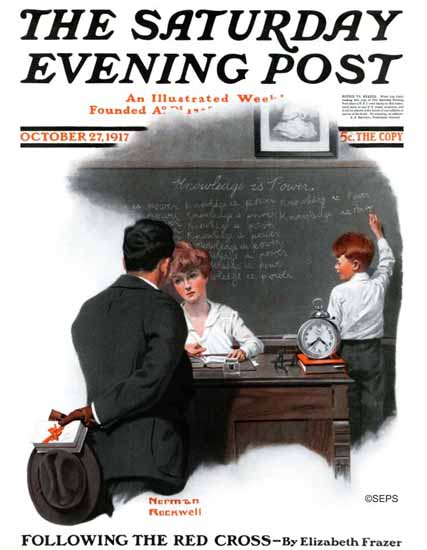 Norman Rockwell Artist Saturday Evening Post 1917_10_27 | 400 Norman Rockwell Magazine Covers 1913-1963