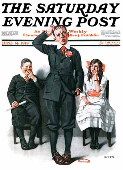 Norman Rockwell Artist Saturday Evening Post 1919_06_14 | 400 Norman Rockwell Magazine Covers 1913-1963