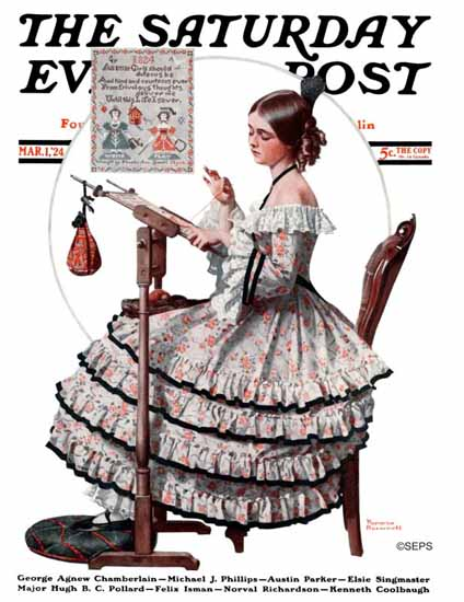 Norman Rockwell Artist Saturday Evening Post 1924_03_01   400 Norman Rockwell Magazine Covers 1913-1963
