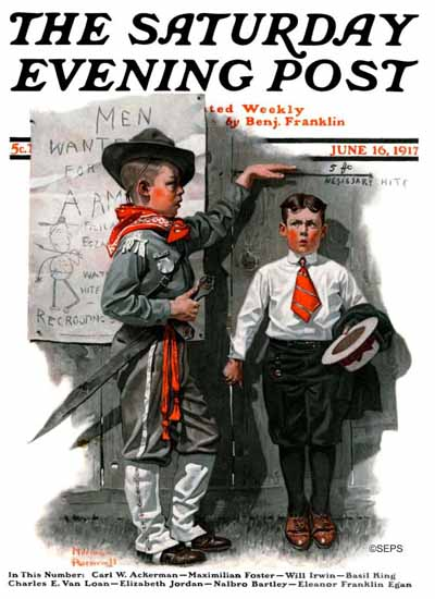 Norman Rockwell Cover Artist Saturday Evening Post 1917_06_16 | 400 Norman Rockwell Magazine Covers 1913-1963
