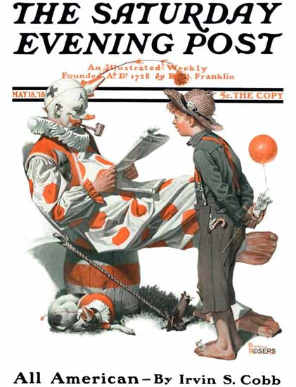Norman Rockwell Cover Artist Saturday Evening Post 1918_05_18 | 400 Norman Rockwell Magazine Covers 1913-1963