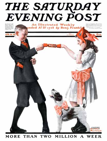 Norman Rockwell Cover Artist Saturday Evening Post 1919_04_26 | 400 Norman Rockwell Magazine Covers 1913-1963
