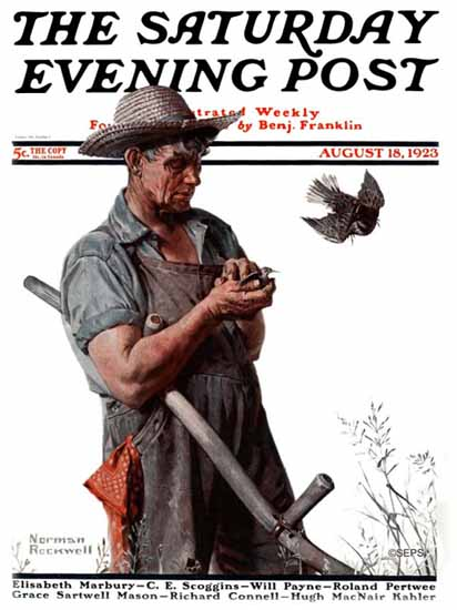 Norman Rockwell Cover Artist Saturday Evening Post 1923_08_18 | 400 Norman Rockwell Magazine Covers 1913-1963