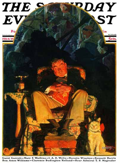 Norman Rockwell Cover Artist Saturday Evening Post 1929_02_16 | 400 Norman Rockwell Magazine Covers 1913-1963