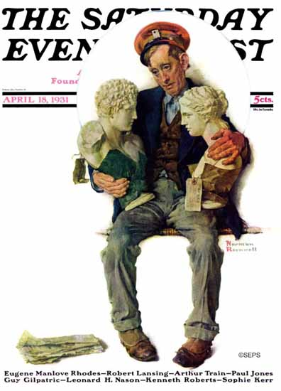 Norman Rockwell Cover Artist Saturday Evening Post 1931_04_18 | 400 Norman Rockwell Magazine Covers 1913-1963