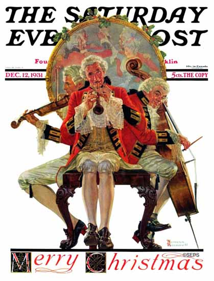 Norman Rockwell Cover Artist Saturday Evening Post 1931_12_12 | The Saturday Evening Post Graphic Art Covers 1931-1969