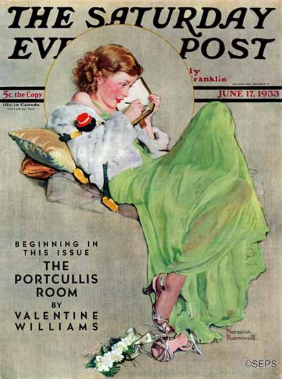 Norman Rockwell Cover Artist Saturday Evening Post 1933_06_17 | 400 Norman Rockwell Magazine Covers 1913-1963