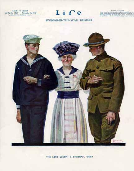 Norman Rockwell Life Humor Magazine 1917-11-08 Copyright | Life Magazine Graphic Art Covers 1891-1936