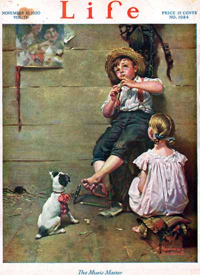 Norman Rockwell Life Humor Magazine 1920-11-11 Copyright | Life Magazine Graphic Art Covers 1891-1936