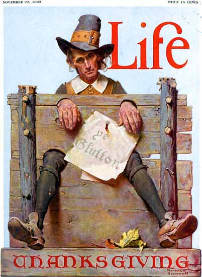 Norman Rockwell Life Humor Magazine 1923-11-22 Copyright | 400 Norman Rockwell Magazine Covers 1913-1963
