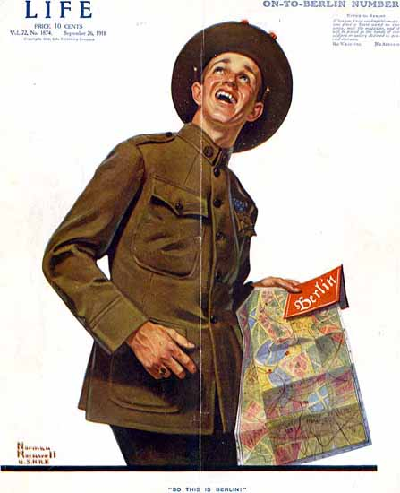 Norman Rockwell Life Magazine This is Berlin 1918-09-26 Copyright | Life Magazine Graphic Art Covers 1891-1936