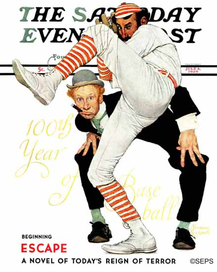Norman Rockwell Saturday Evening Post 100 Years Baseball 1939_07_08 | 400 Norman Rockwell Magazine Covers 1913-1963