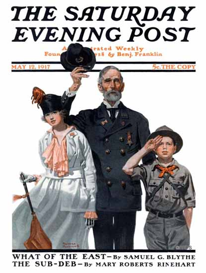 Norman Rockwell Saturday Evening Post 1917_05_12 | The Saturday Evening Post Graphic Art Covers 1892-1930
